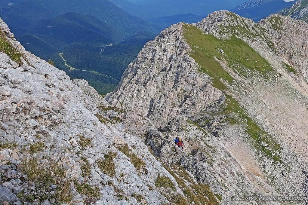 Описание маршрута восхождения на вершину Фишт (2876 м) по СЗ гребню (по «Крокодилу») по состоянию маршрута на 28.08.2016