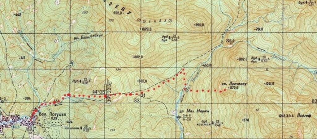 Перспективные скальные районы Кубани: Скалы Псеченах